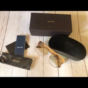 Tom ford west Gold plated limited edi sunglasses